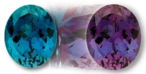 Chatham Alexandrite Color Change