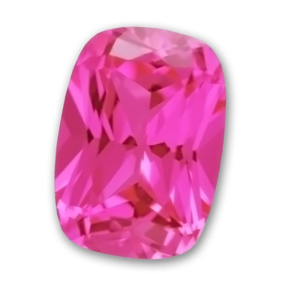 Chatham cushion cut pink sapphire