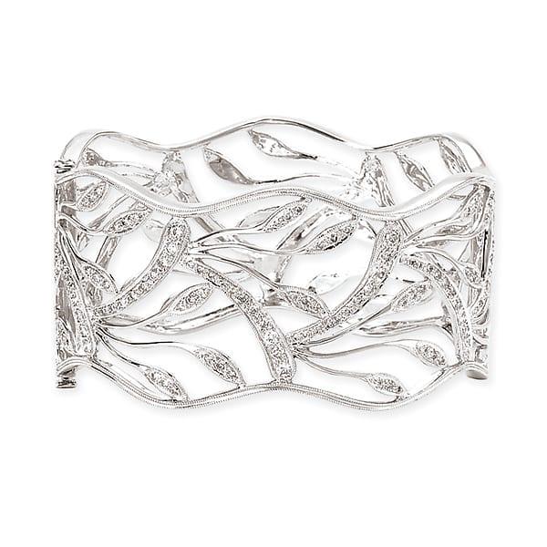 14k white gold fashion diamond bracelet