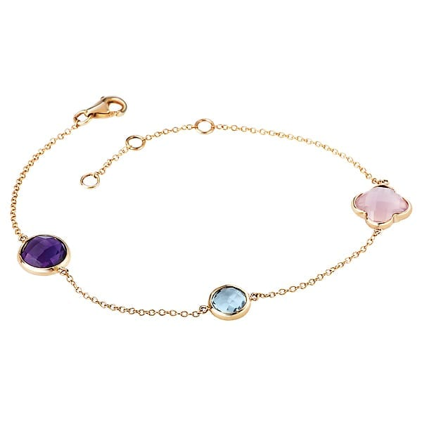 14k gold gemstone bracelet