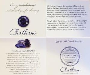 Chatham Warranty Card