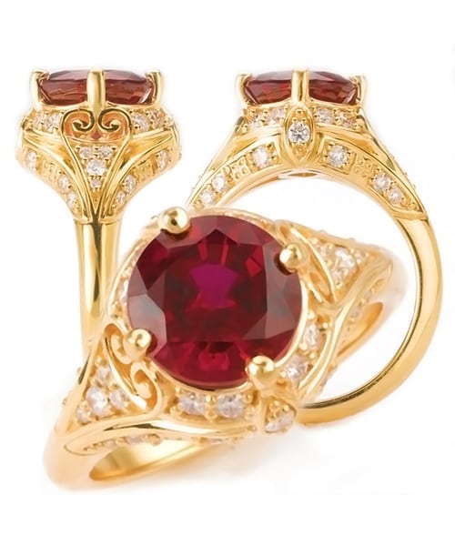 Chatham Ruby Engagement Ring