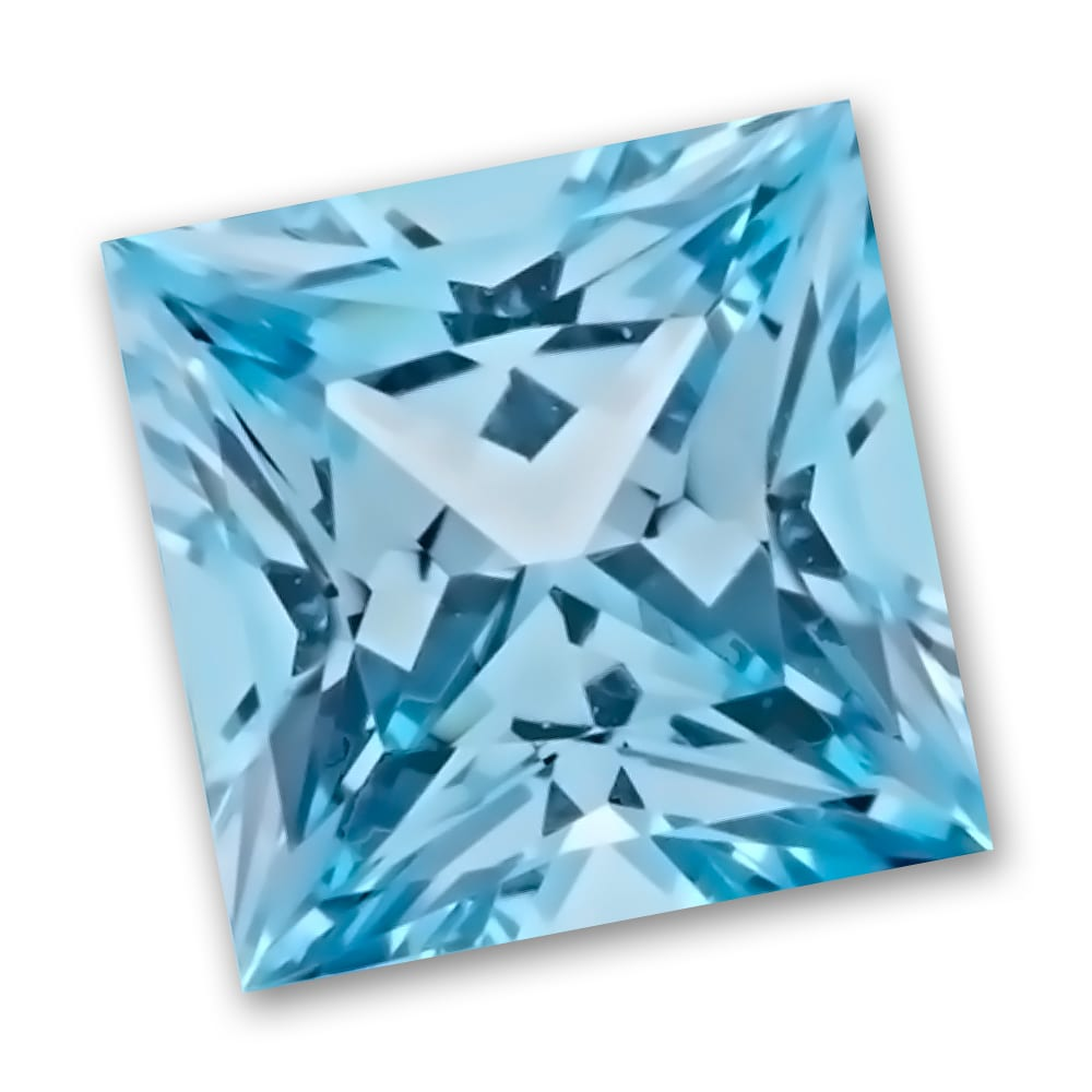Chatham princess cut aqua spinel