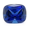 Chatham Antique Cushion Cut Blue Sapphire