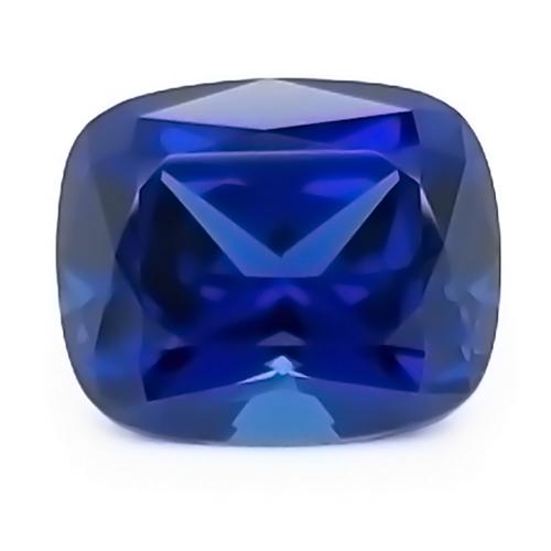 Chatham Antique Cushion Cut Blue Sapphire