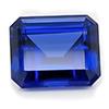 Chatham Octagon Blue Sapphire