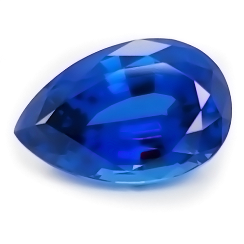 Chatham Pear Shaped Blue Sapphire