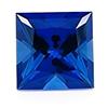 Chatham Princess Cut Blue Sapphire