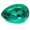 Chatham Pear Shaped Emerald