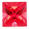 Chatham Princess Cut Padparadscha