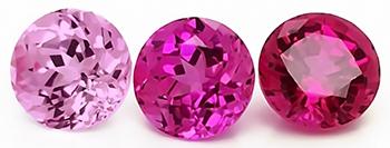 Chatham pink sapphire tones