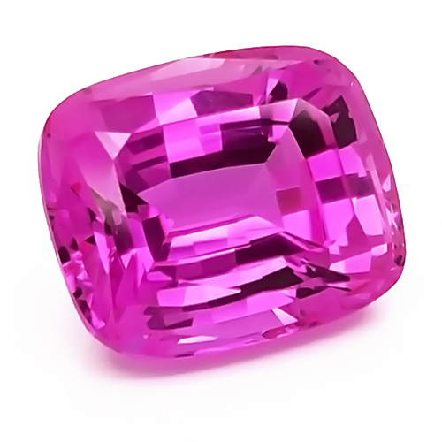 Chatham Antique Cushion Cut Pink Sapphires
