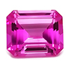 Chatham Octagon Pink Sapphire