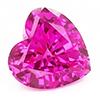Chatham Heart Pink Sapphire