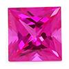 Chatham Princess Cut Pink Sapphire
