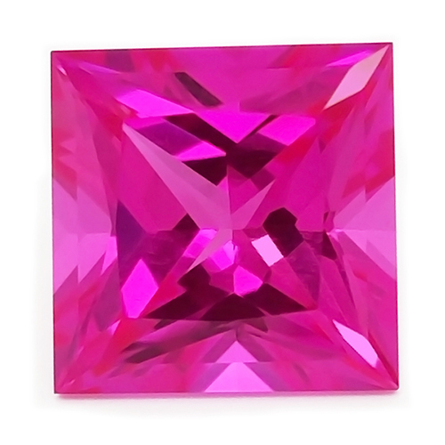 Chatham Princess Cut Pink Sapphires