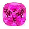 Chatham Square Cushion Pink Sapphire