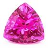 Chatham Trillion Pink Sapphire