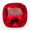 Chatham Square Cushion Ruby