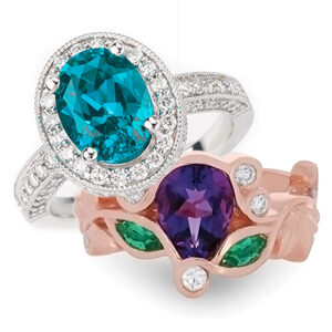 Custom Cut Chatham Created Gems