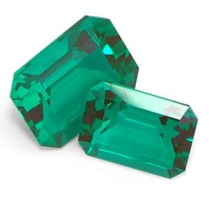 Chatham Created Emerald Cut Emeralds