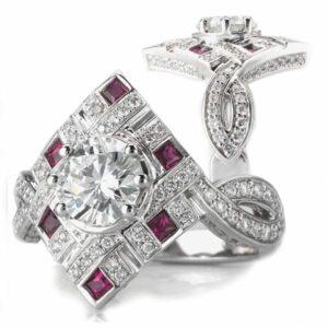 Beautiful ruby and diamond ring