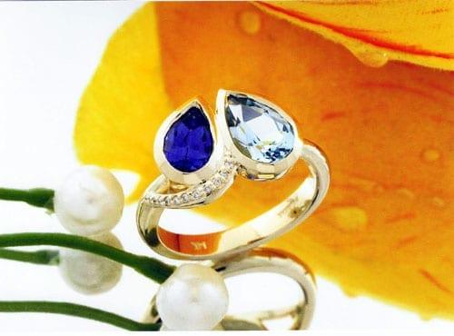 Heart and Soul birhtstone Engagement Ring
