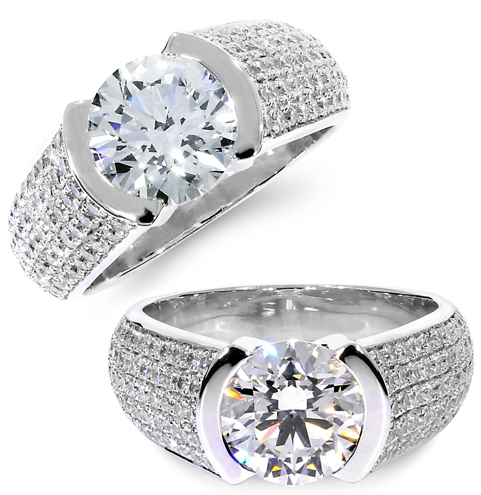 diamond pave engagment ring